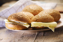 sandwiches with cheese Royalty Free Stock Photo