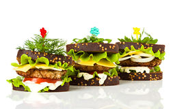 Sandwiches close-up Royalty Free Stock Images