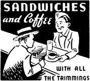 Sandwiches And Coffee Royalty Free Stock Image
