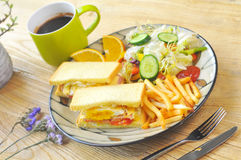 Sandwiches and coffee Royalty Free Stock Photography