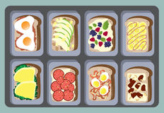 Sandwiches Collection for healthy ,Vector illustrations Stock Image