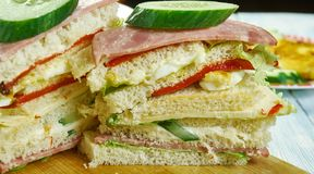 Sandwiches de miga. Popular food items in Argentina, Chile and Uruguay royalty free stock photography