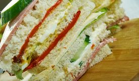 Sandwiches de miga. Popular food items in Argentina, Chile and Uruguay stock image