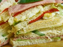 Sandwiches de miga. Popular food items in Argentina, Chile and Uruguay royalty free stock photos