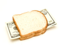 Sandwiches dollars Stock Photos