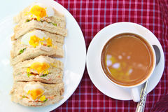 Sandwiches egg. Royalty Free Stock Image