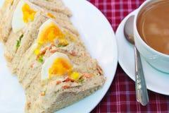 Sandwiches egg. Royalty Free Stock Photo