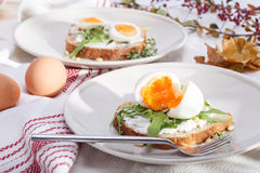 Sandwiches with eggs Stock Photography