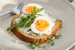 Sandwiches with eggs Royalty Free Stock Photos