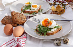 Sandwiches with eggs Royalty Free Stock Photo