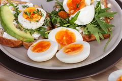Sandwiches with eggs Stock Images