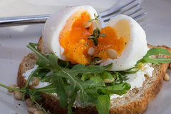 Sandwiches with eggs Stock Image