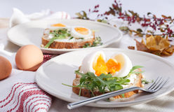 Sandwiches with eggs Royalty Free Stock Photography