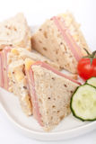 Sandwiches with Ham and Cheese Stock Photo