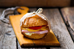 Sandwiches with ham and cheese Stock Image
