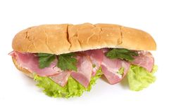 Sandwiches with ham and vegetables Stock Image
