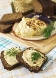 Sandwiches with hummus Royalty Free Stock Photography