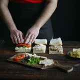 Sandwiches ingredients Royalty Free Stock Image