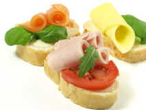 Sandwiches on isolated background Royalty Free Stock Image