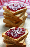 Sandwiches with jam Royalty Free Stock Photos