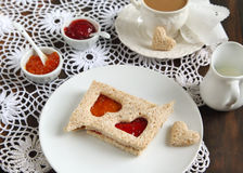 Sandwiches with jam Royalty Free Stock Image