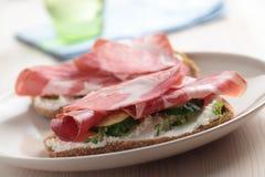 Sandwiches with jamon Stock Photo