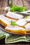 Sandwiches with lard Royalty Free Stock Images