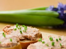Sandwiches with meat pate. Stock Photography