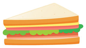 Sandwiches with meat and vegetables. Illustration Stock Image