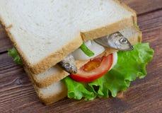 Sandwiches met ansjovissen stock afbeeldingen