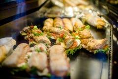 Sandwiches met bacon Stock Afbeeldingen