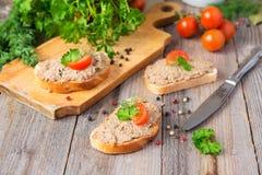 Sandwiches met eigengemaakte pastei Royalty-vrije Stock Foto