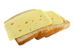 Sandwiches met kaas Royalty-vrije Stock Foto