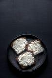 Sandwiches met roomkaas Stock Afbeelding