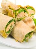 Sandwiches met zalm Stock Afbeelding