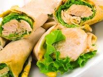 Sandwiches met zalm Royalty-vrije Stock Afbeeldingen