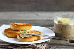 Sandwiches with pate. Stock Image