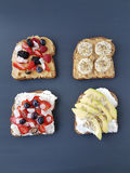 Sandwiches with peanut butter and cheese Royalty Free Stock Photos