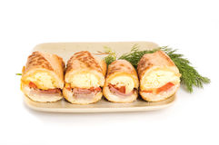 Sandwiches on plate Stock Photography