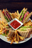 Sandwiches in the plate Royalty Free Stock Photo