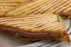 Sandwiches on a plate Royalty Free Stock Photo