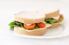 Sandwiches on a plate Stock Photos