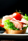 Sandwiches with prosciutto Royalty Free Stock Image