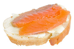 Sandwiches with red fish Royalty Free Stock Photos