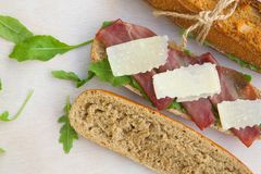 Sandwiches with rucola Royalty Free Stock Image