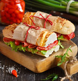 Sandwiches. Stock Photos