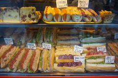 Sandwiches for Sale in Paris France Stock Photo