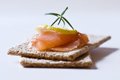 Sandwiches with salmon Stock Photography