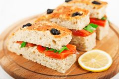Sandwiches With Salmon Stock Photos