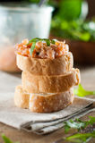 Sandwiches with salmon pate Stock Photography